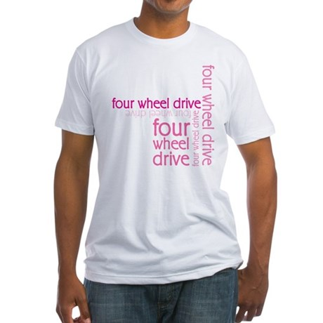 Pink Four Wheel Drive Girl Fitted T-Shirt