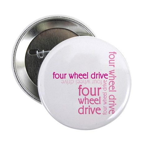 "Pink Four Wheel Drive Girl 2.25"" Button (100 pack)"