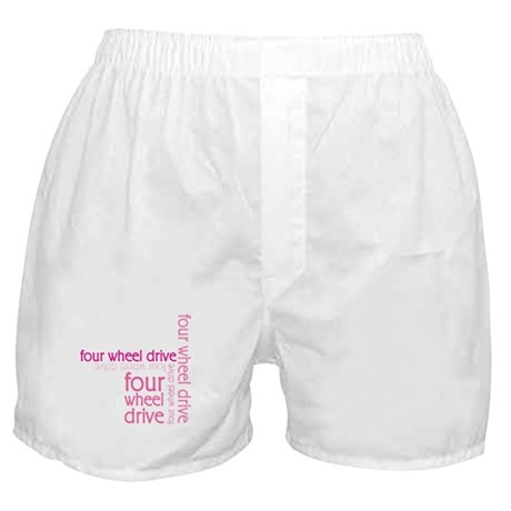 Pink Four Wheel Drive Girl Boxer Shorts