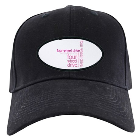 Pink Four Wheel Drive Girl Black Cap