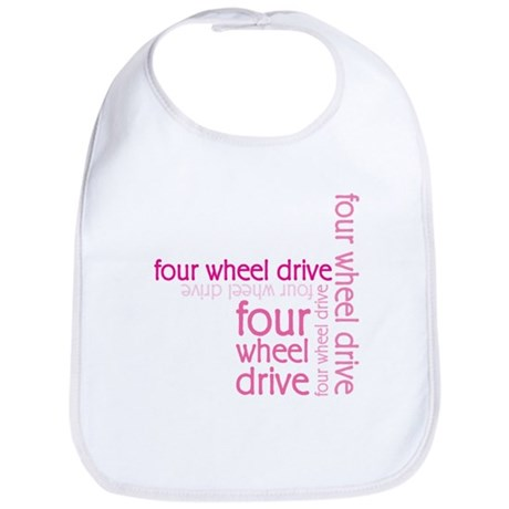 Pink Four Wheel Drive Girl Bib