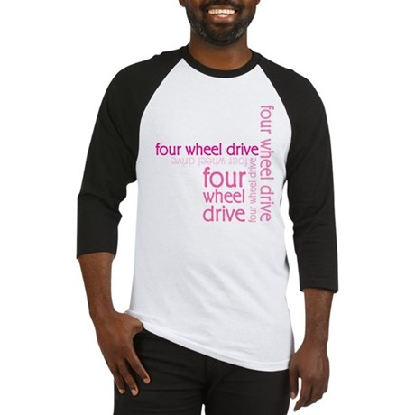 Pink Four Wheel Drive Girl Baseball Jersey