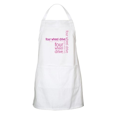 Pink Four Wheel Drive Girl BBQ Apron