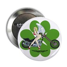 "Chopper Angel Four Leaf Clover 2.25"" Button"