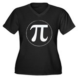 pi Women's Plus Size V-Neck Dark T-Shirt