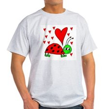 Bug In Love Ash Grey T-Shirt
