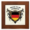Proud to be German Framed Tile