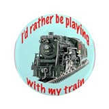 "plaing with trains 3.5"" Button"