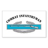 CIB Combat Infantryman Rectangle Decal