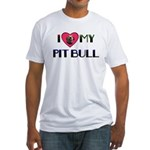 PIT BULL'S ROCK Fitted T-Shirt