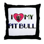 PIT BULL'S ROCK Throw Pillow