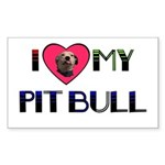 PIT BULL'S ROCK Rectangle Sticker