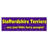 Furry People Staffordshire Terrier Bumper Bumper Sticker