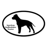 American Staffordshire Terrier Silhouette Decal