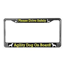 Pit Bull Agility Dog License Plate Frame