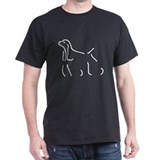 Cocker Spaniel Sketch Black T-Shirt