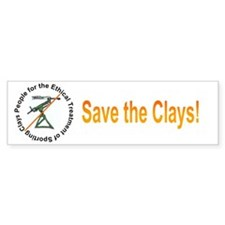 Save the Clays Bumper Bumper Sticker