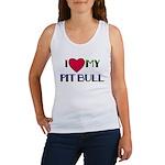 I LOVE MY PIT BULL  Women's Tank Top