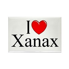 """I Love (Heart) Xanax"" Rectangle Magnet"