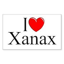 """I Love (Heart) Xanax"" Rectangle Decal"