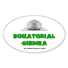 Equatorial Guinea Oilfields Oval Decal