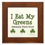 Naturally Pinch Proof Vegan Framed Tile