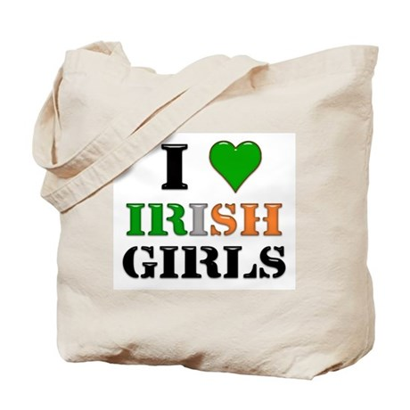 I Love Irish Girls Tote Bag
