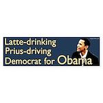 Latte Drinking Prius Driving Democrat for Obama