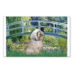 Bridge / Lhasa Apso Sticker (Rectangle)