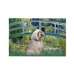 Bridge / Lhasa Apso Rectangle Magnet