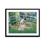 Bridge / Lhasa Apso Framed Panel Print