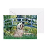 Bridge / Lhasa Apso Greeting Card