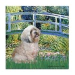 Bridge / Lhasa Apso Tile Coaster