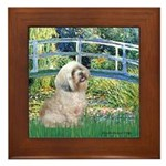 Bridge / Lhasa Apso Framed Tile