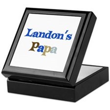 Landon's Papa  Keepsake Box