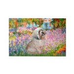 Garden / Lhasa Apso Rectangle Magnet (10 pack)