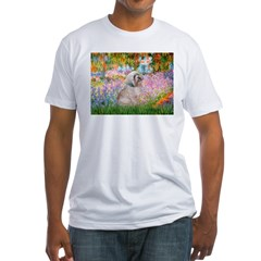 Garden / Lhasa Apso Fitted T-Shirt
