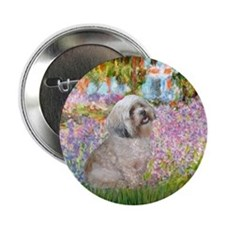 "Garden / Lhasa Apso 2.25"" Button"