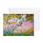 Garden / Lhasa Apso Greeting Card