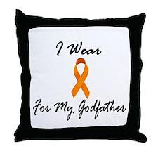 I Wear Orange For My Godfather 1 Throw Pillow
