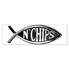 Fish n' Chips Bumper Car Sticker
