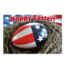 Patriotic Happy Easter Postcards (Package of 8)