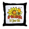 Un-Bee-Lievable 50th Throw Pillow