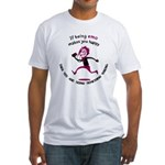 If being emo makes you happy Fitted T-Shirt