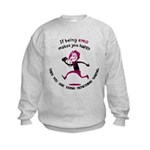 If being emo makes you happy Kids Sweatshirt