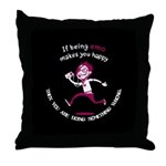 If being emo makes you happy Throw Pillow