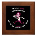 If being emo makes you happy Framed Tile