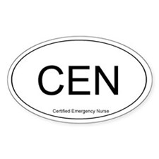 Emergency Nurse Oval Decal