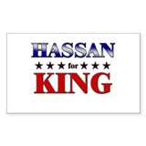 HASSAN for king Rectangle Decal