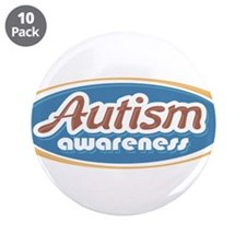 """Autism Oval (MC1) 3.5"""" Button (10 pack)"""